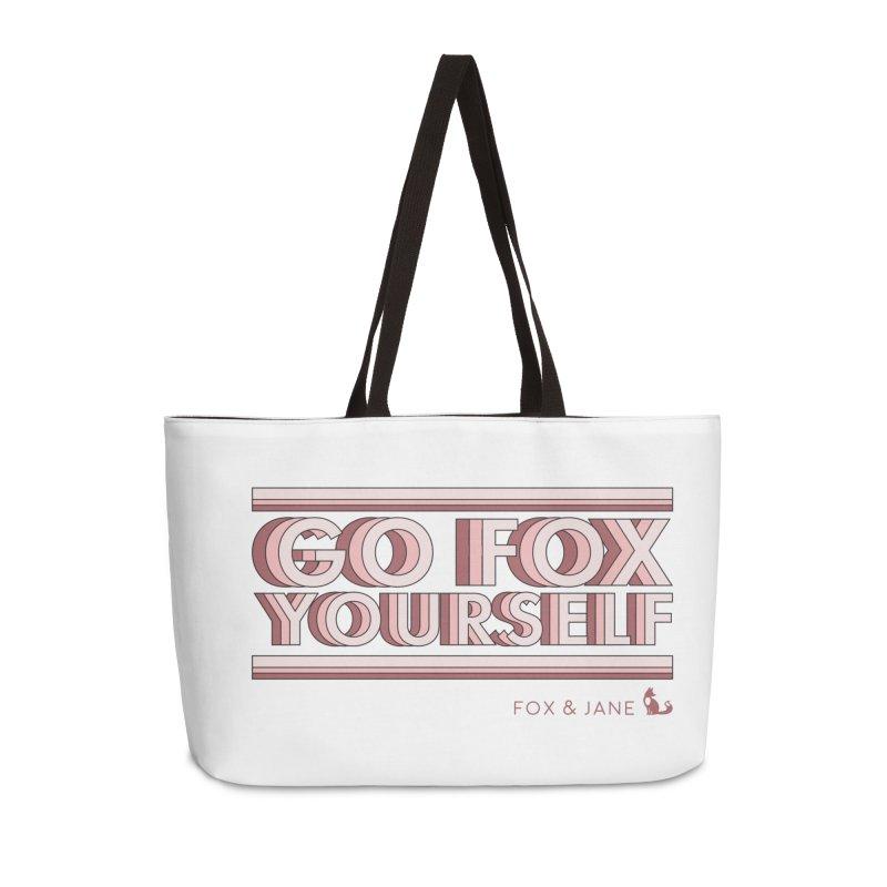 Go Fox Yourself Accessories Bag by foxandjane's Artist Shop