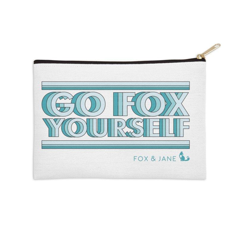 Go Fox Yourself Accessories Zip Pouch by foxandjane's Artist Shop