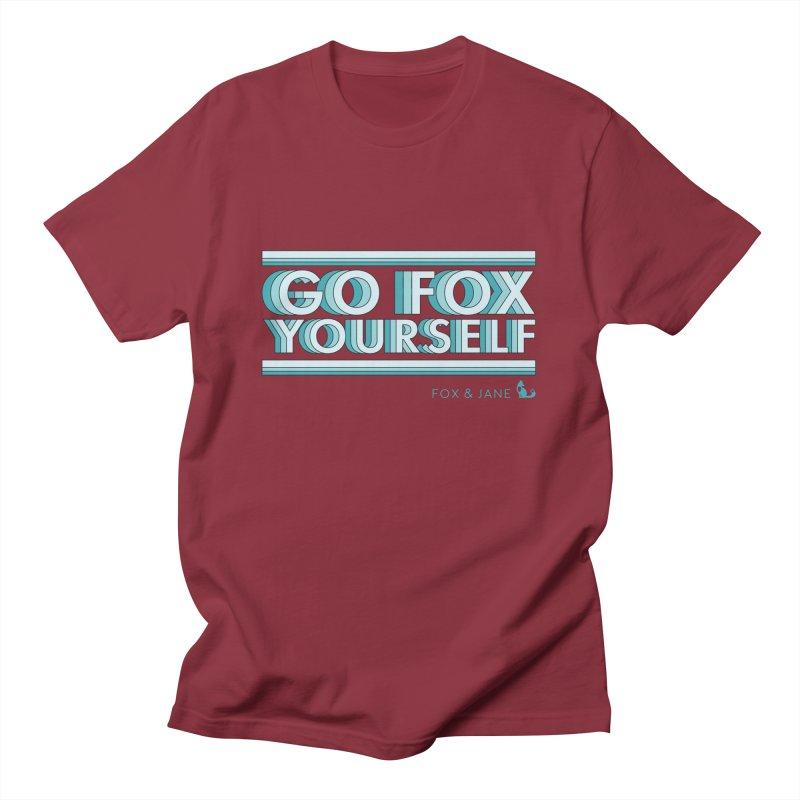 Go Fox Yourself Men's T-Shirt by foxandjane's Artist Shop