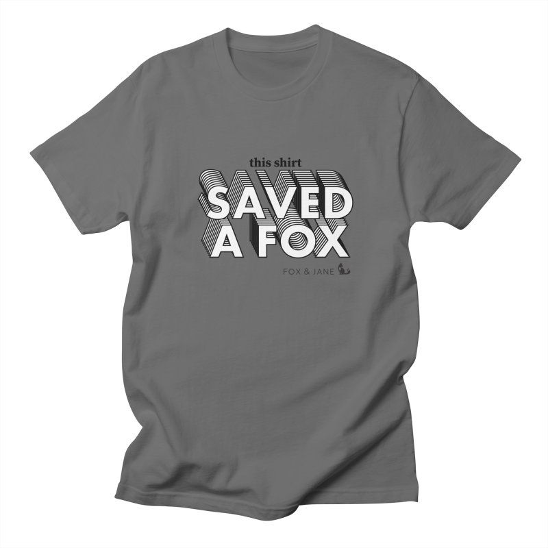 Save A Fox Men's T-Shirt by foxandjane's Artist Shop