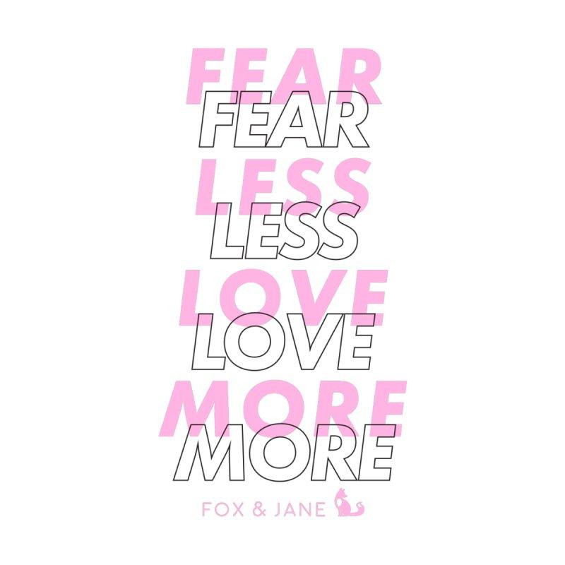 Fear Less, Love More Men's Pullover Hoody by foxandjane's Artist Shop