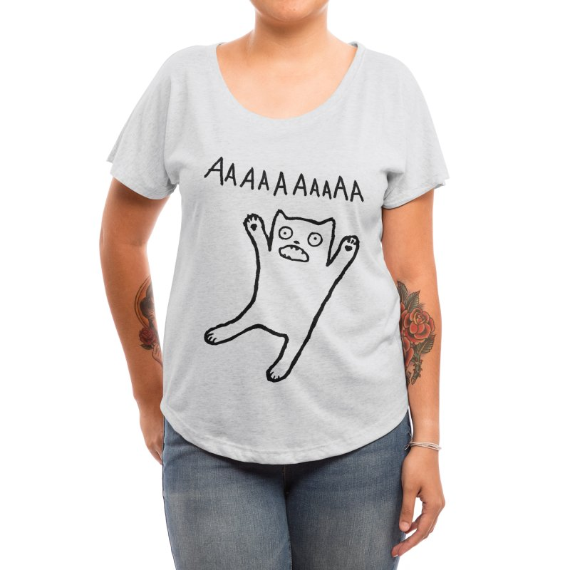 Adequate Expression of Feelings Women's Scoop Neck by Fox Shiver