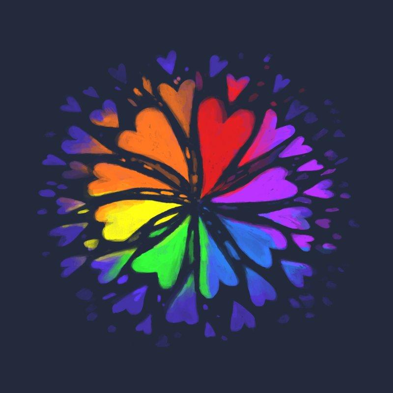 Rainbow Flower Kids Baby Zip-Up Hoody by Fox Shiver