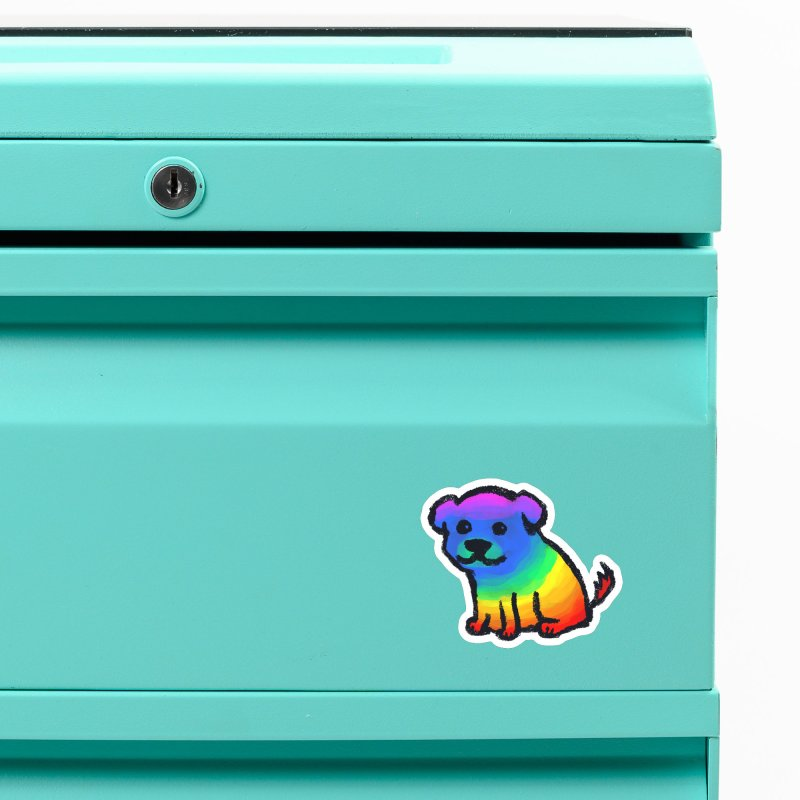 Rainbow Dog Accessories Magnet by Fox Shiver