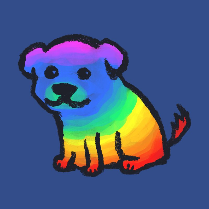 Rainbow Dog Kids Toddler Longsleeve T-Shirt by Fox Shiver
