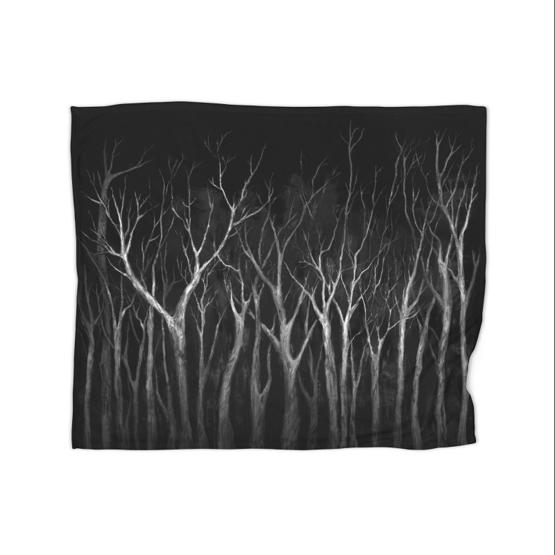 Among Trees Home Blanket by Fox Shiver