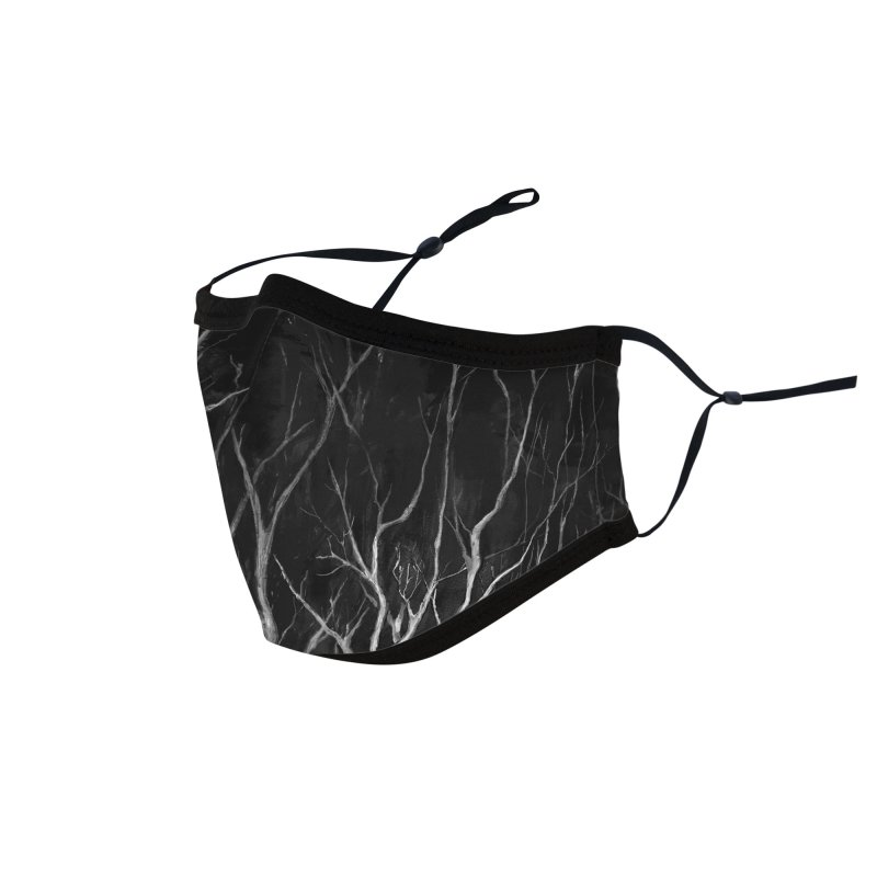 Among Trees Accessories Face Mask by Fox Shiver