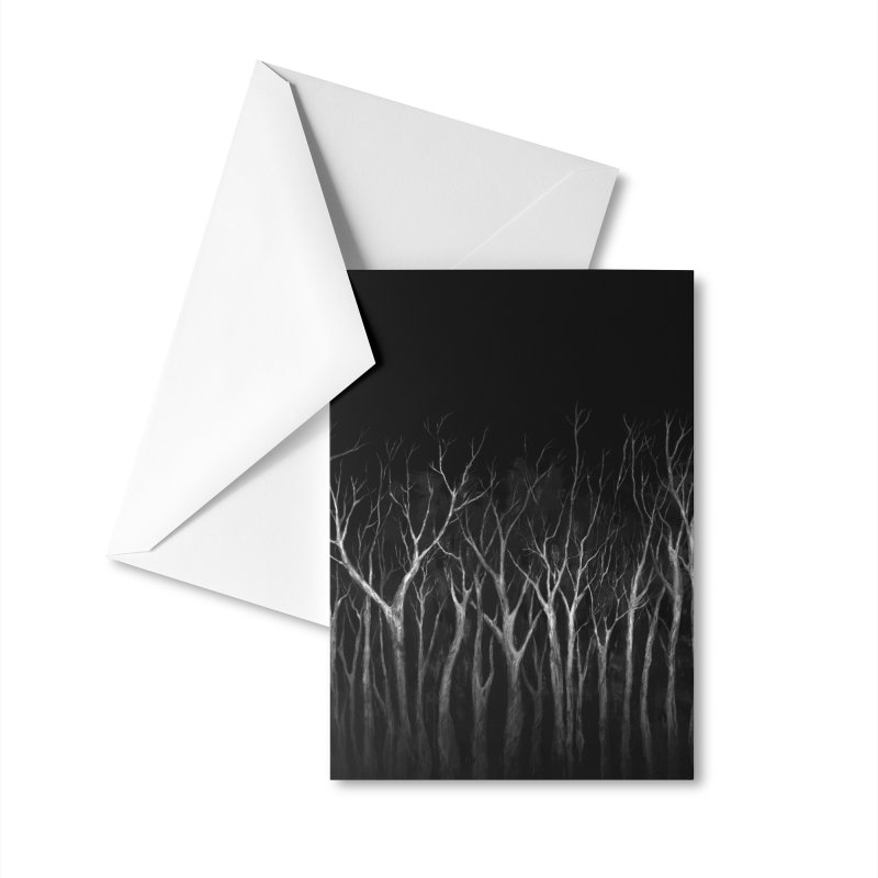 Among Trees Accessories Greeting Card by Fox Shiver