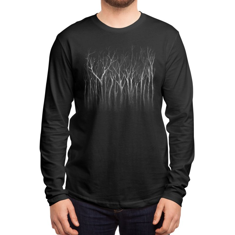Among Trees Men's Longsleeve T-Shirt by Fox Shiver