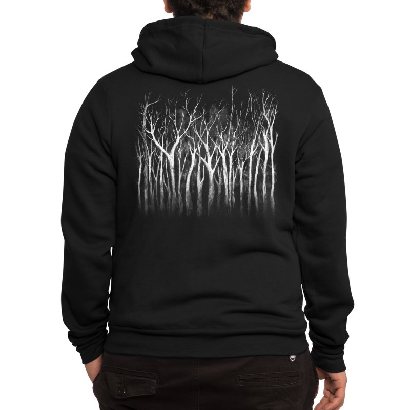 Among Trees Men's Zip-Up Hoody by Fox Shiver