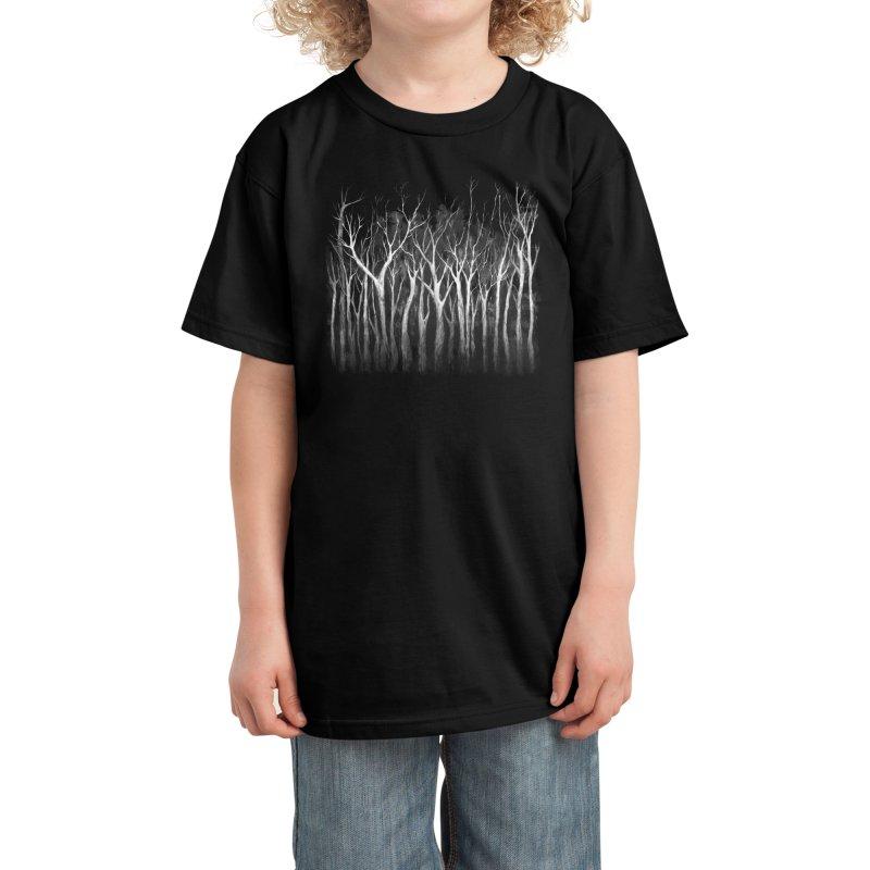 Among Trees Kids T-Shirt by Fox Shiver