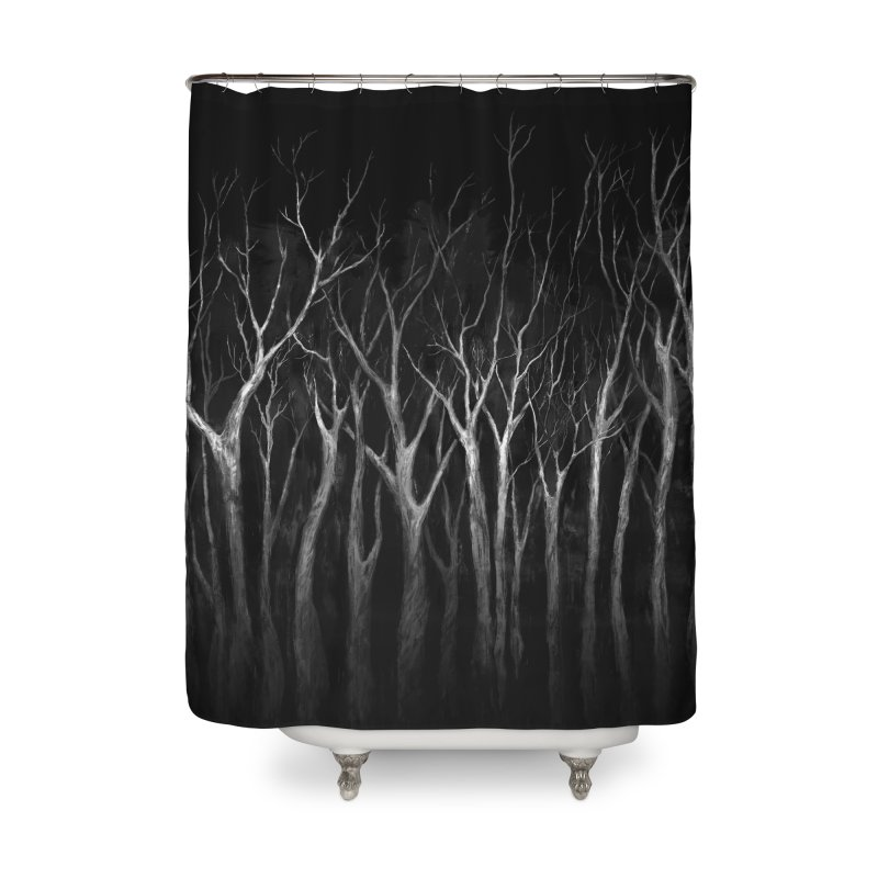 Among Trees Home Shower Curtain by Fox Shiver