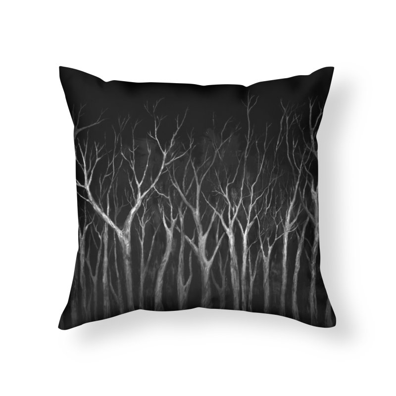 Among Trees Home Throw Pillow by Fox Shiver