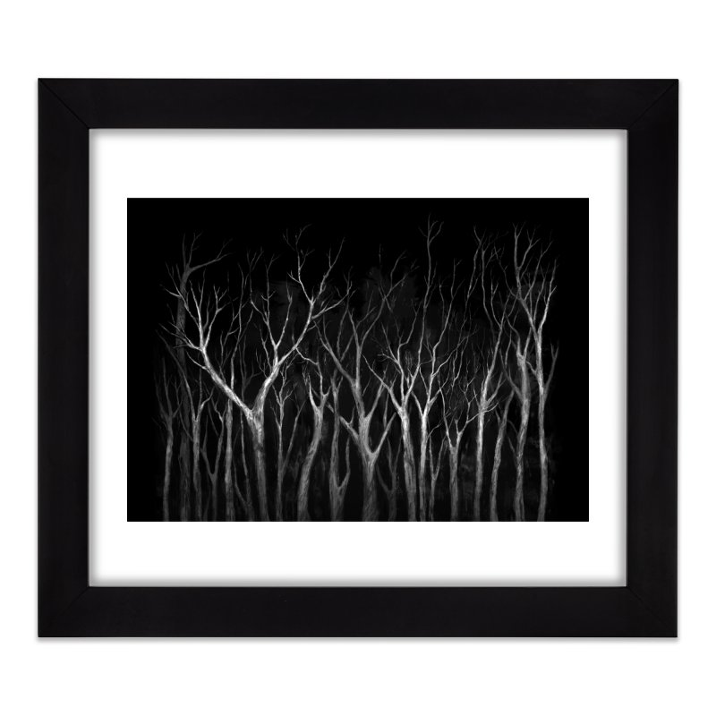 Among Trees Home Framed Fine Art Print by Fox Shiver
