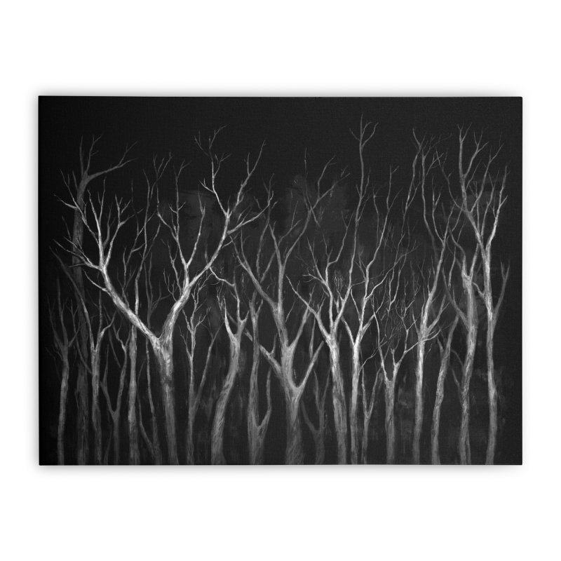 Among Trees Home Stretched Canvas by Fox Shiver