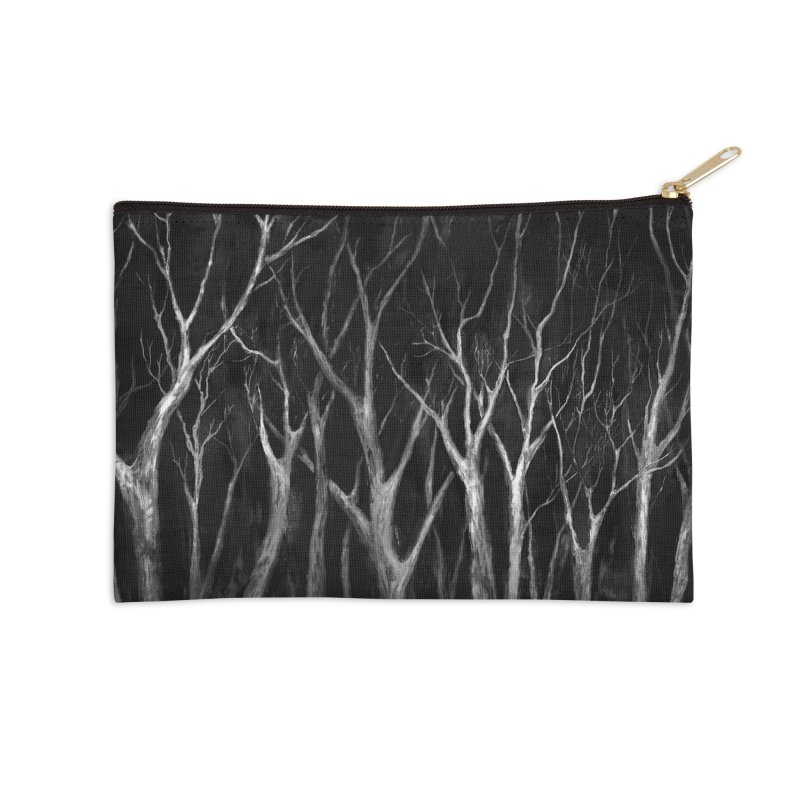 Among Trees Accessories Zip Pouch by Fox Shiver