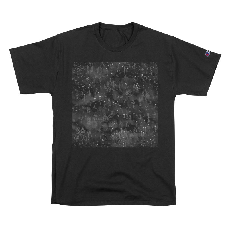 Wild Flowers At Night Men's T-Shirt by Fox Shiver