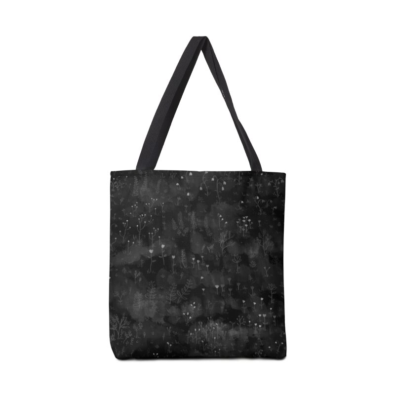 Wild Flowers At Night Accessories Tote Bag Bag by Fox Shiver