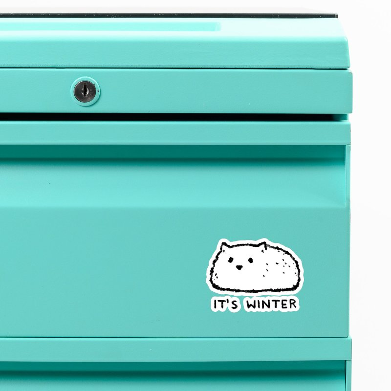 It's Winter Accessories Magnet by Fox Shiver