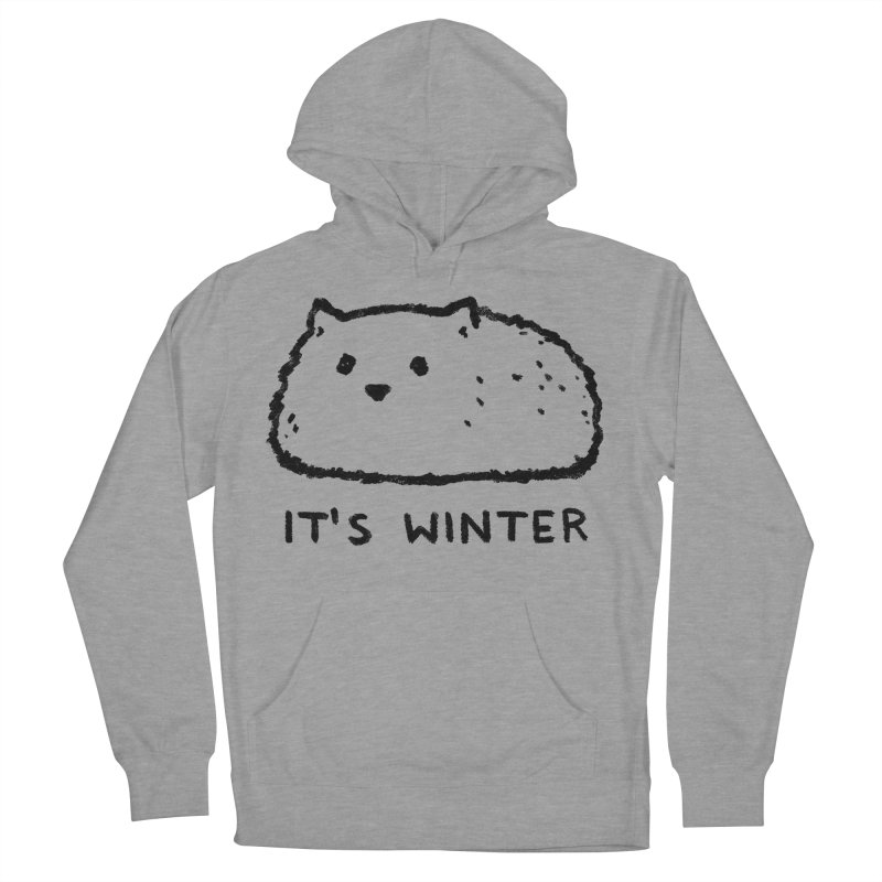 It's Winter Men's French Terry Pullover Hoody by Fox Shiver