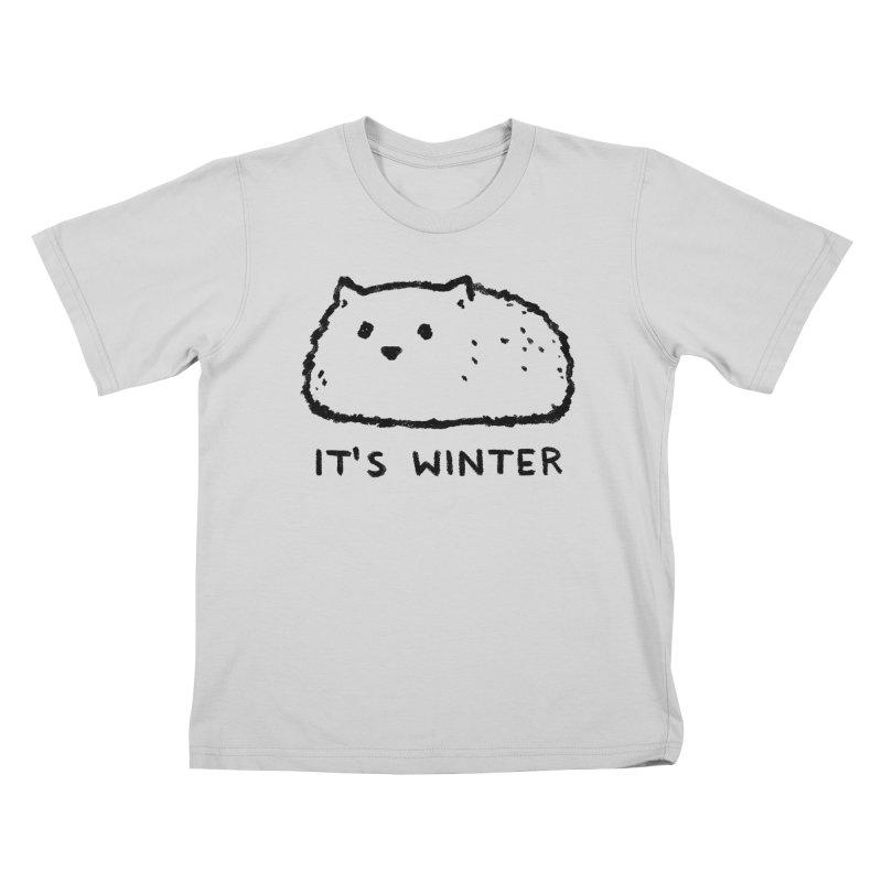 It's Winter Kids T-Shirt by Fox Shiver
