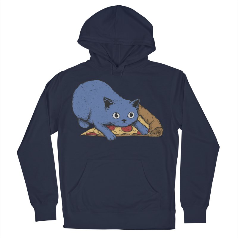 Get Your Own Pizza, Human! Men's French Terry Pullover Hoody by Fox Shiver