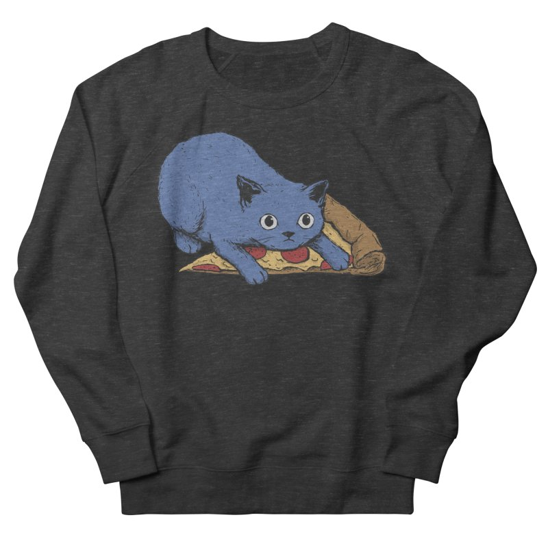 Get Your Own Pizza, Human! Men's French Terry Sweatshirt by Fox Shiver