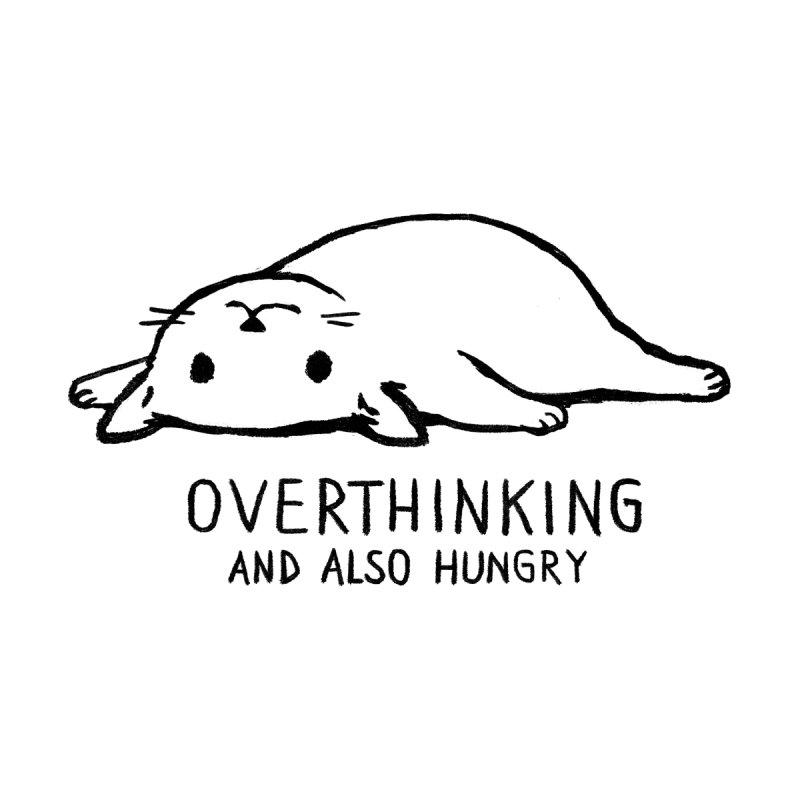 Overthinking and also hungry Kids Longsleeve T-Shirt by Fox Shiver