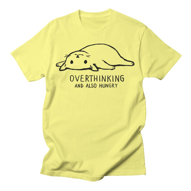 Overthinking and also hungry Men's T-Shirt by Fox Shiver