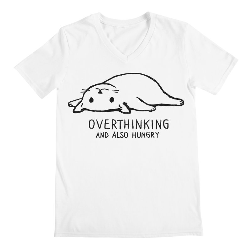 Overthinking and also hungry Men's V-Neck by Fox Shiver