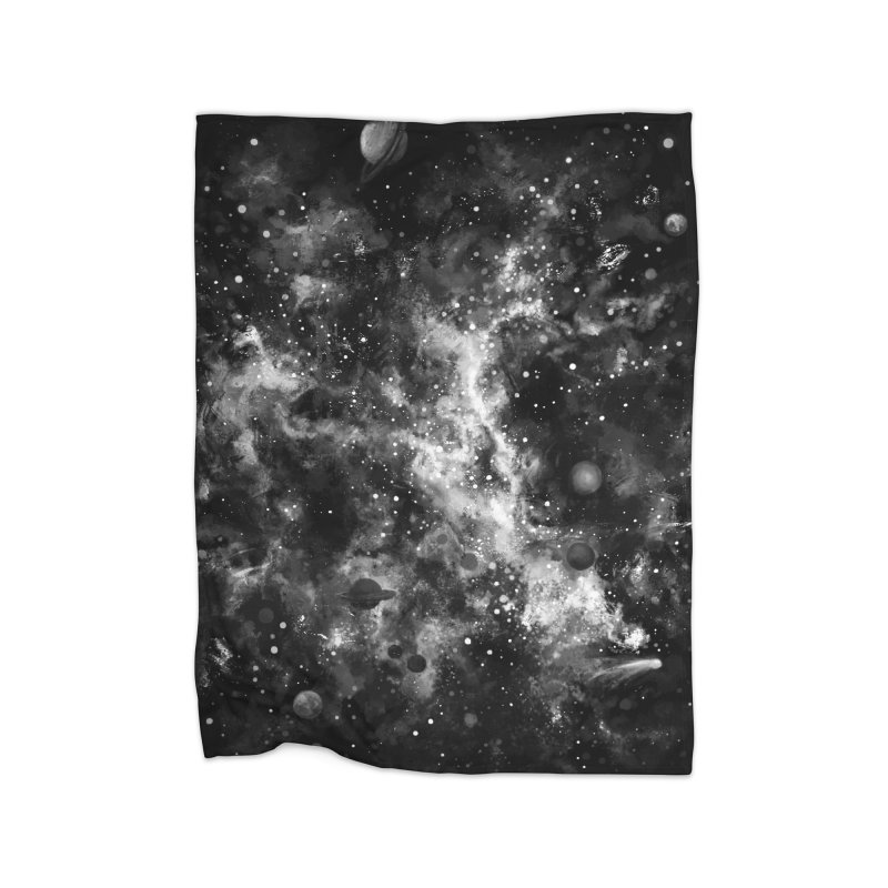 Space Painted Home Blanket by Fox Shiver