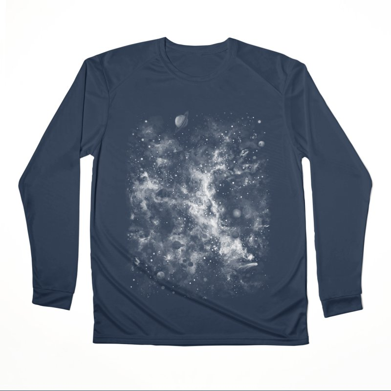 Space Painted Women's Performance Unisex Longsleeve T-Shirt by Fox Shiver