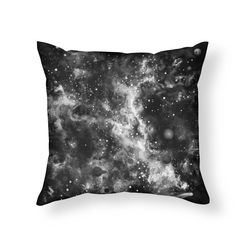 Space Painted Home Throw Pillow by Fox Shiver