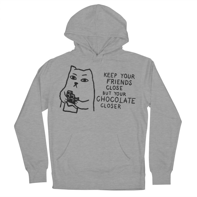 Chocolate Men's French Terry Pullover Hoody by Fox Shiver