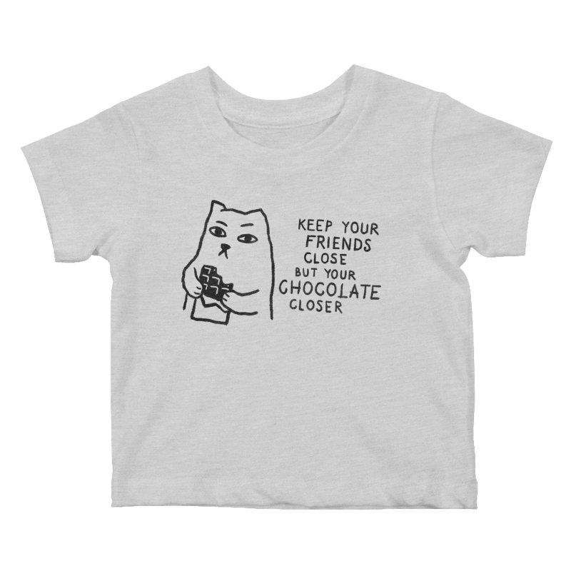 Chocolate Kids Baby T-Shirt by Fox Shiver