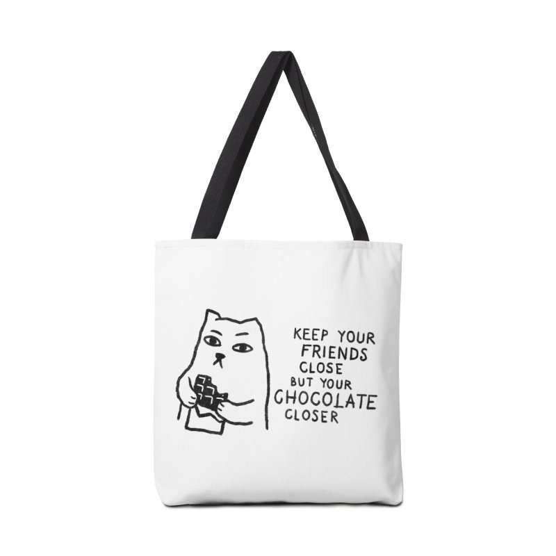 Chocolate Accessories Tote Bag Bag by Fox Shiver