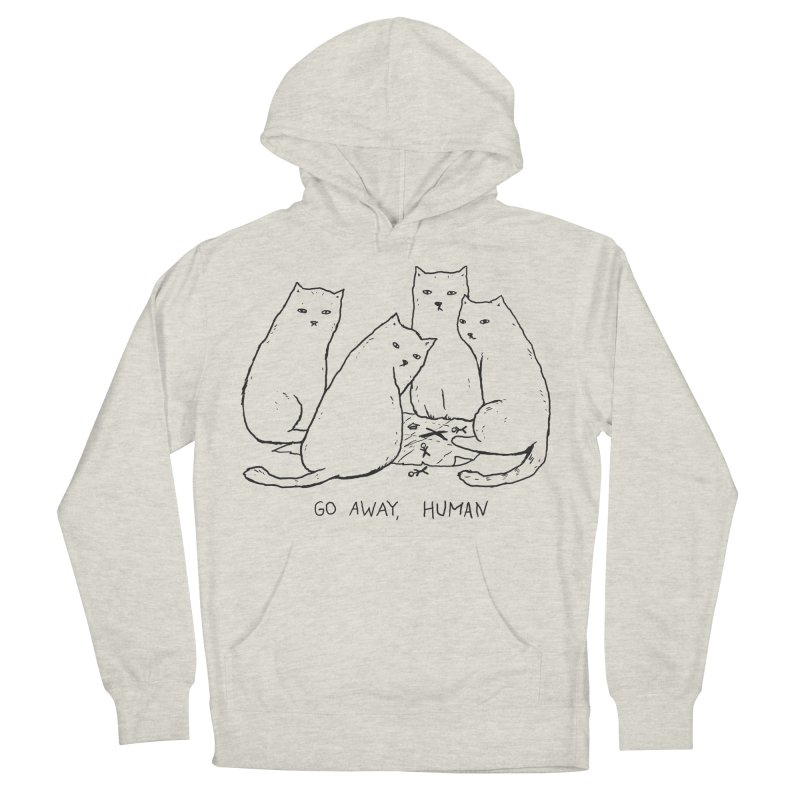 Nothing To See Here Men's French Terry Pullover Hoody by Fox Shiver