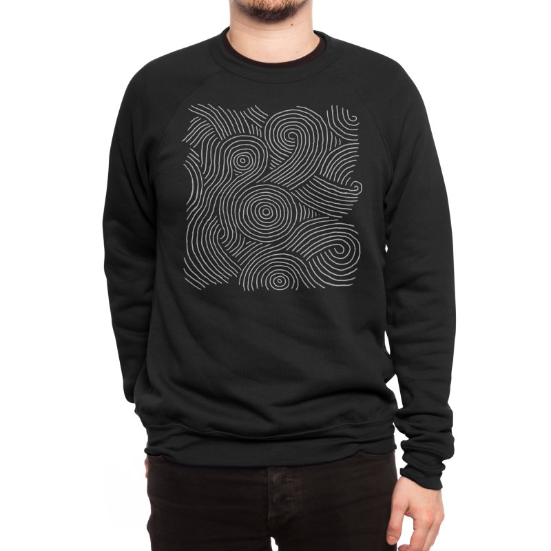 Zen Maze Men's Sweatshirt by Fox Shiver