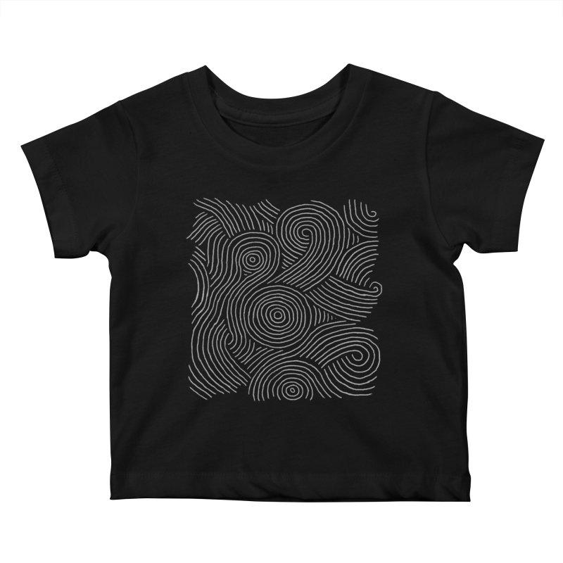 Zen Maze Kids Baby T-Shirt by Fox Shiver