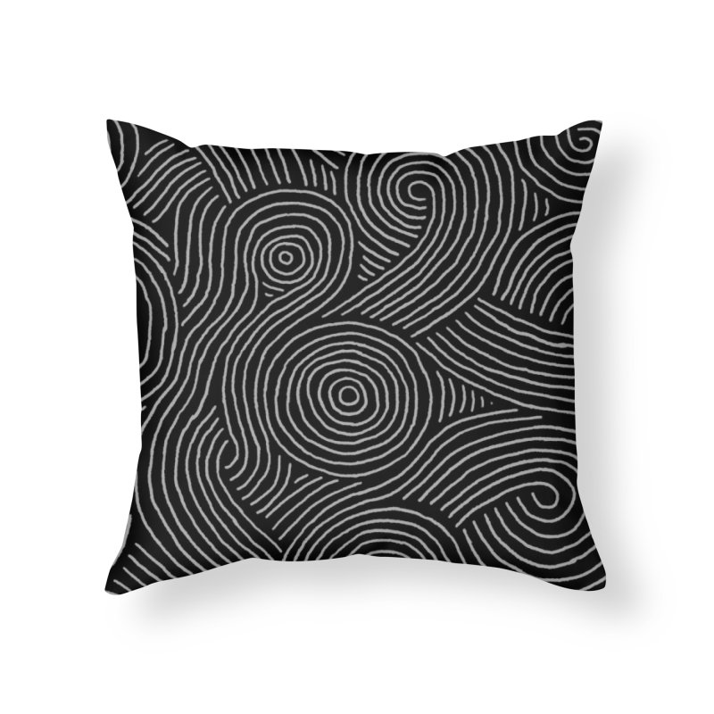 Zen Maze Home Throw Pillow by Fox Shiver