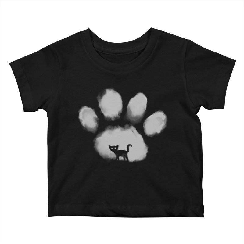 Human Cat Marked Kids Baby T-Shirt by Fox Shiver