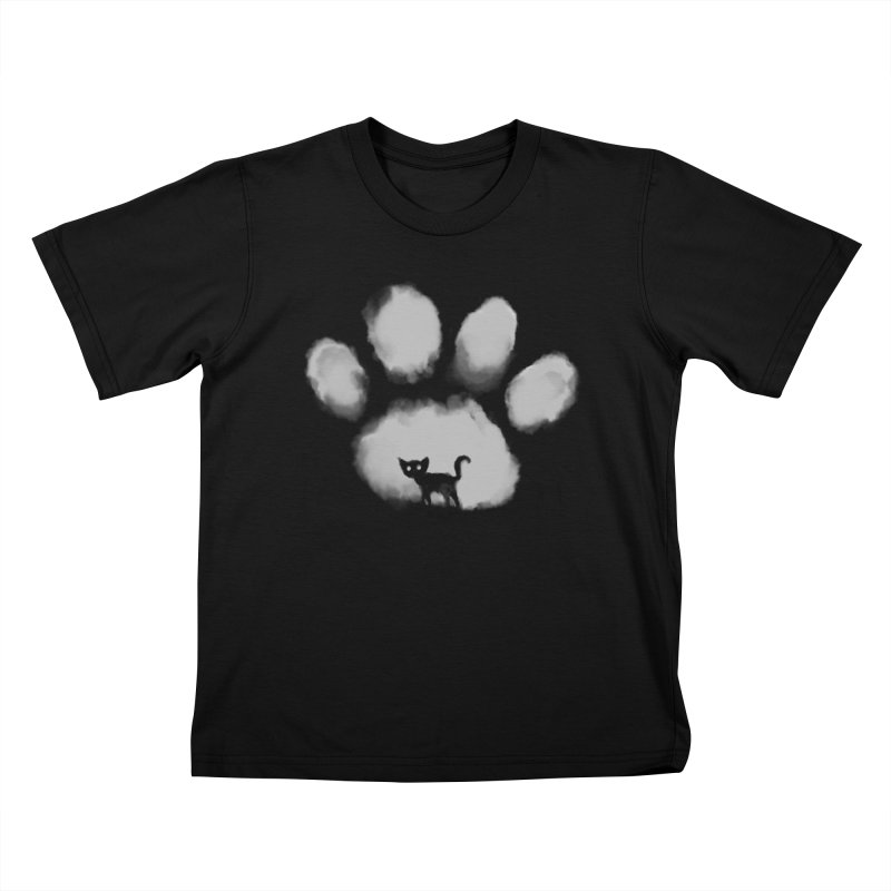 Human Cat Marked Kids T-Shirt by Fox Shiver