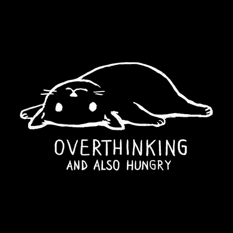 Overthinking and also hungry (Black Variant) Women's Longsleeve T-Shirt by Fox Shiver