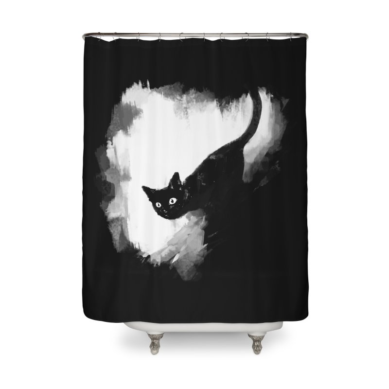 Jump Home Shower Curtain by Fox Shiver