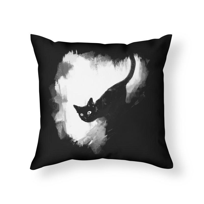 Jump Home Throw Pillow by Fox Shiver