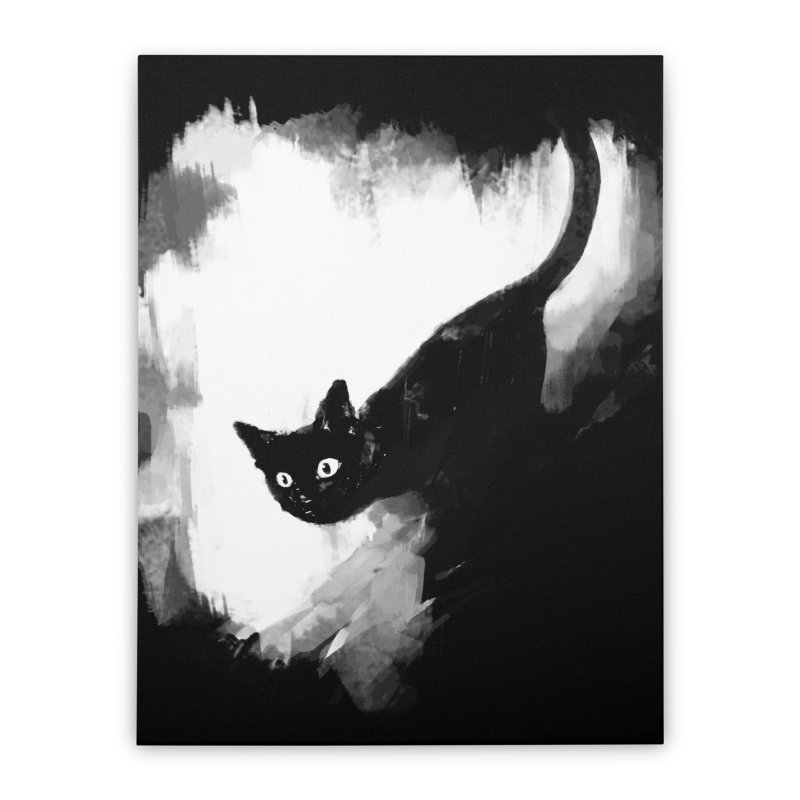 Jump Home Stretched Canvas by Fox Shiver