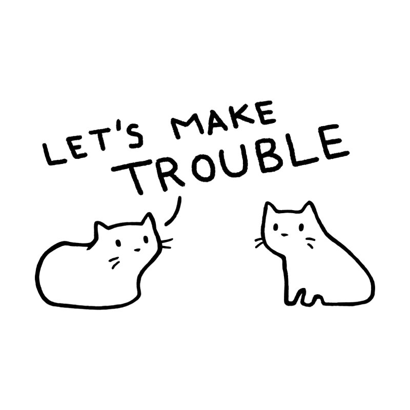 Let's Make Trouble Accessories Sticker by Fox Shiver