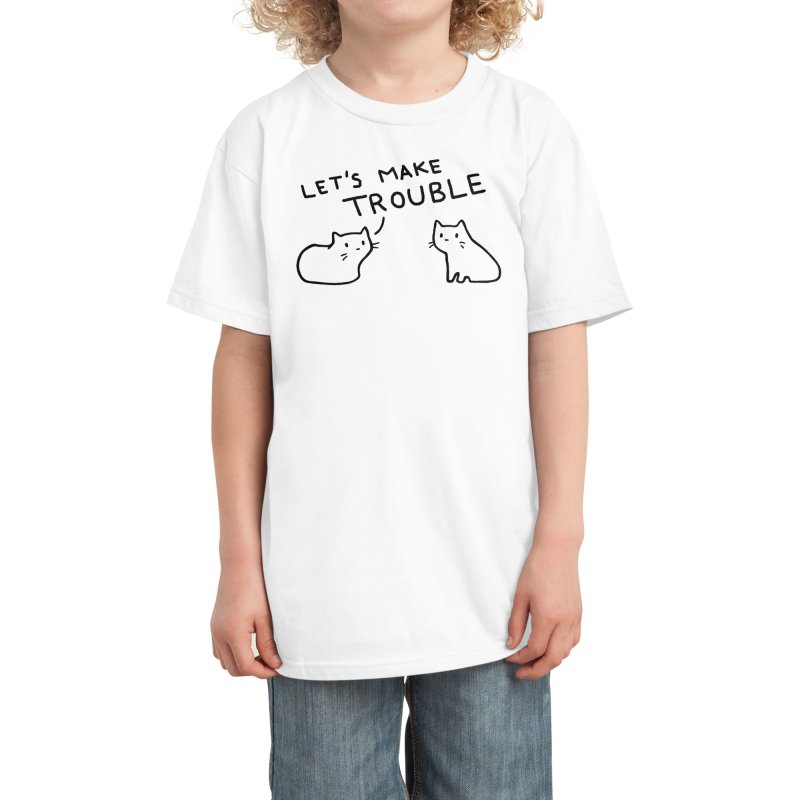Let's Make Trouble Kids T-Shirt by Fox Shiver