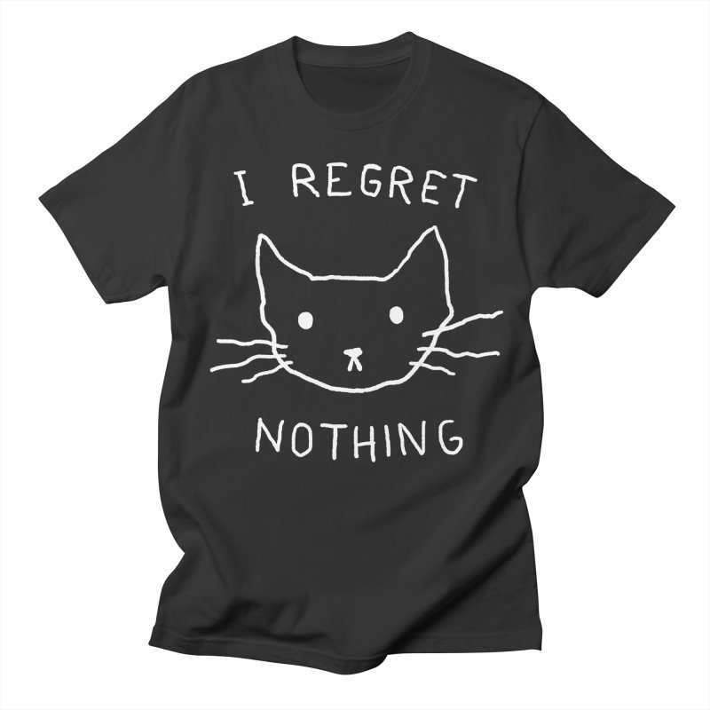 I regret nothing Men's T-Shirt by Fox Shiver
