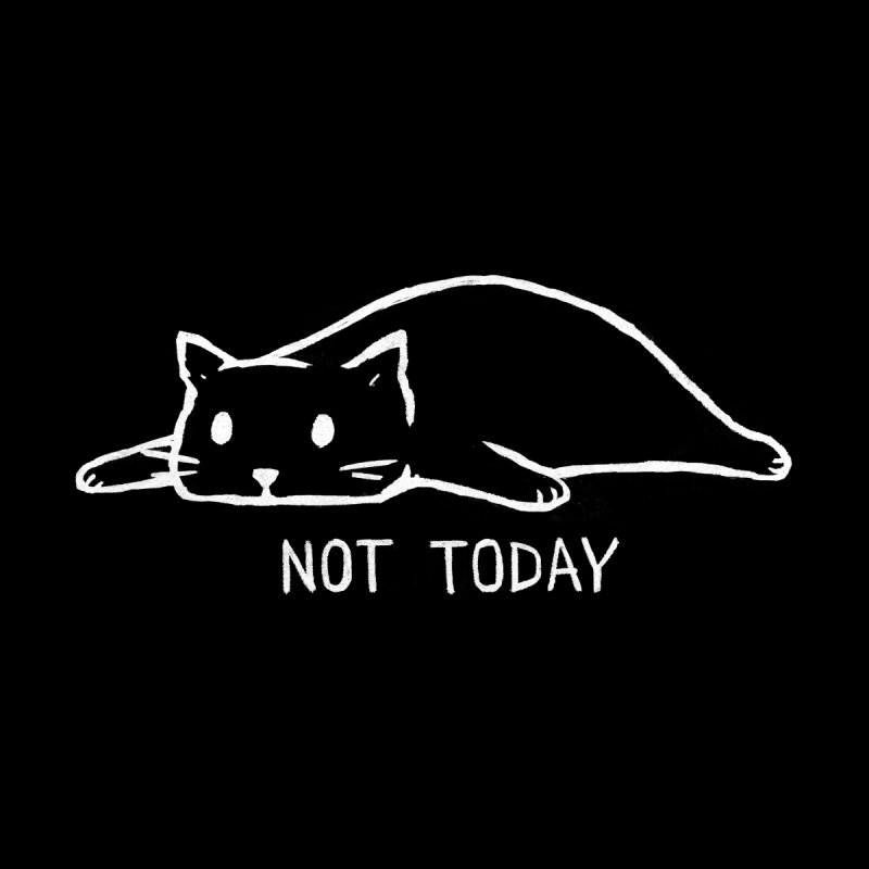 Not Today (Black Variant) Men's T-Shirt by Fox Shiver